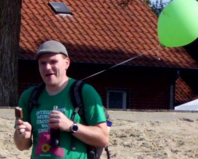 Florian Wielens mit Luftballon