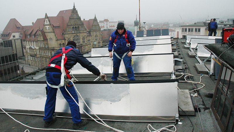 Photovoltaikanlage auf dem Landeskirchenamt