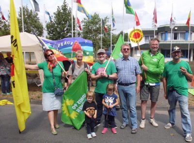 Vertreter der Bündnis-Grünen aus Gronau, Bentheim und Enschede