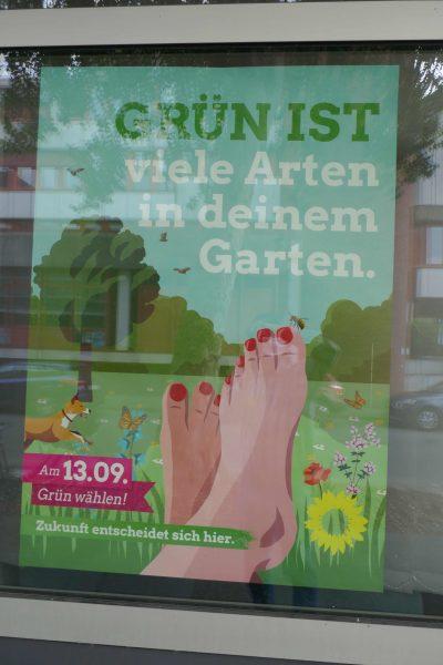 Wahlplakat im Grünen-Büro